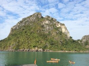 Kayaking around the limestone