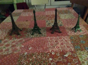 Eiffel Towers we bought at a flea market