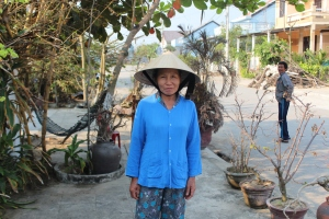 One of An Bang Beachhouse's amazing housekeepers