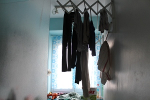 More drying laundry...