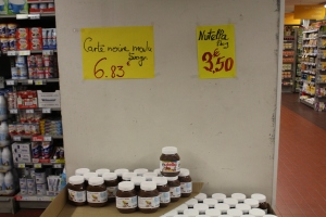 Nutella en action (on sale)!
