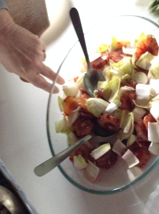 Endive and blood orange salad