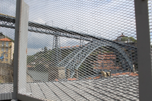 Eiffel bridge through screen