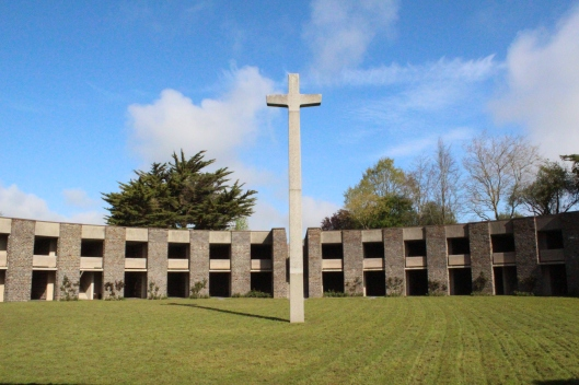 German Cemetery - each dark opening contains the remains of 180 soldiers
