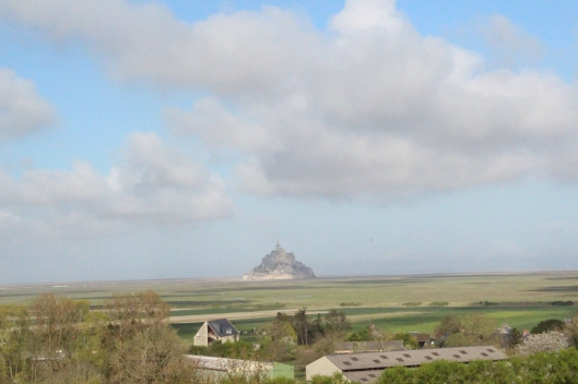 View from German Cemetery - Mont Saint Michel in distance