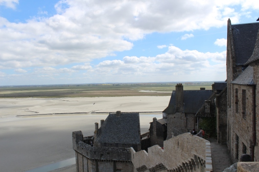 View out from ramparts of Mont Saint Michel