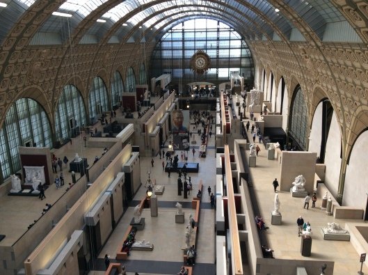 Inside Orsay Museum - beautiful former train station