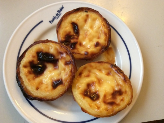 Warm, flaky, crispy, gooey custard tarts