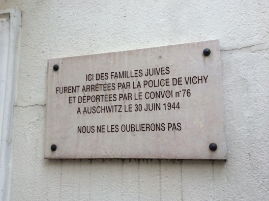 One of many poignant plaques in the 18th arrondissement
