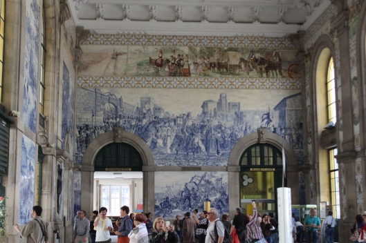 Giant azuelos in Sao Bento train station, Porto