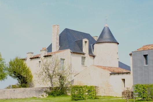 Tercé chateau on a sunny day