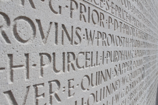 Names of over 11 000 Canadian men whose graves are unknown, Vimy