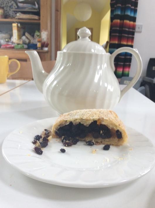 Hmmm.  Eccles cake and tea