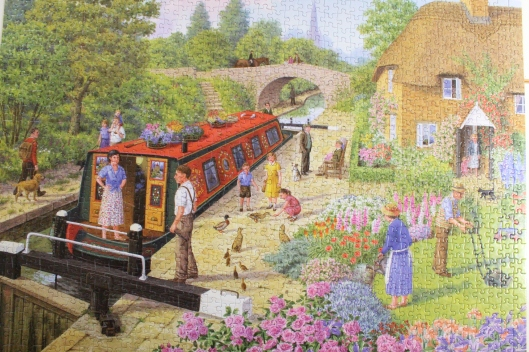 Lockkeeper's cottage (jigsaw puzzle souvenir of our days in the narrowboat)