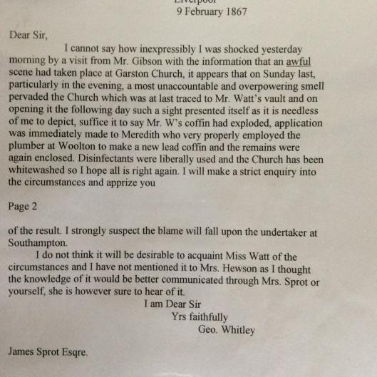 Speke hall letter