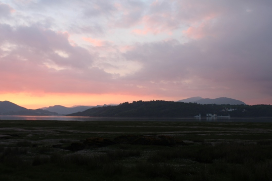 Last sunset in Welsh cottage was spectacular