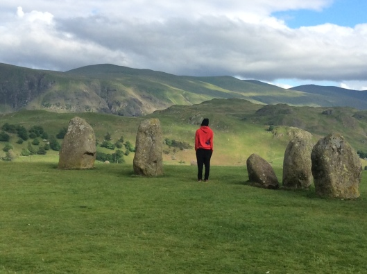 Firstborn admires wild beauty of Cumbria