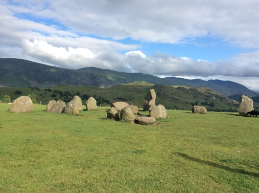 We take time en route to our elopement to enjoy some ancient druid spirituality (Castlerigg Stone Circle, Lakes District, England)