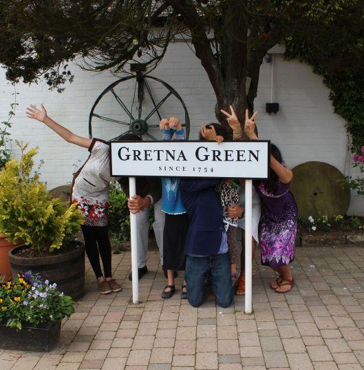 Family portrait, Gretna Green (Scotland)