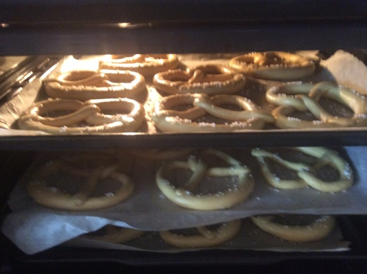 "German ""bretzels"" baking for breakfast, CS Bonn"