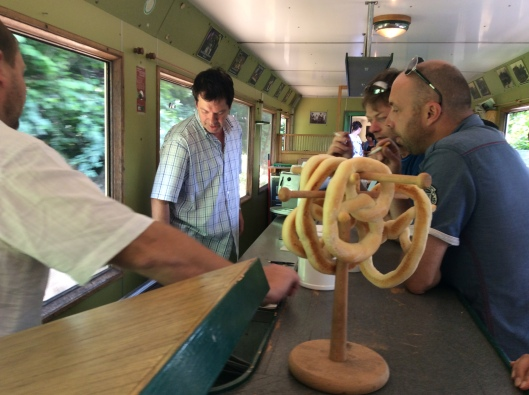 Pretzel eaters rather than train spotters...