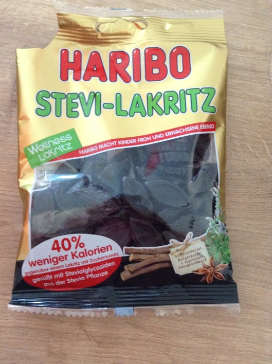 "Need ""wellness liquorice"" made with stevia?  Come to Haribo"