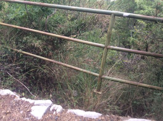 """Because this is the """"safety railing"""" to stop you from falling over the cliff.  And BTW, the one end of the railing isn't secured to anything."""