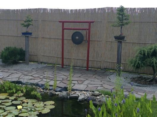 Gong in bonsai garden