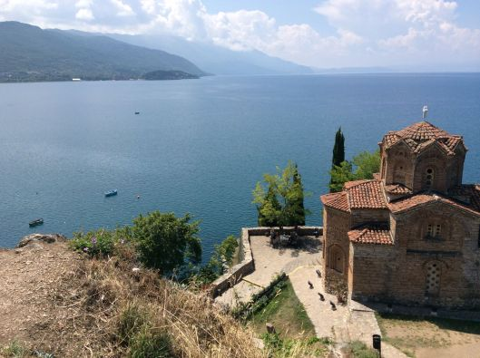 13th century Church of St. John at Kaneo, Lake Ohrid
