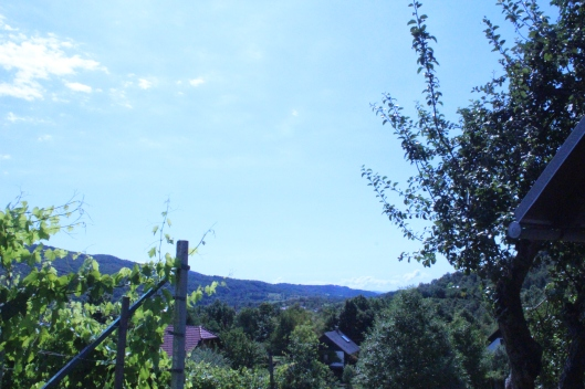 View of Croatian hills from wine house, CS Slovenia