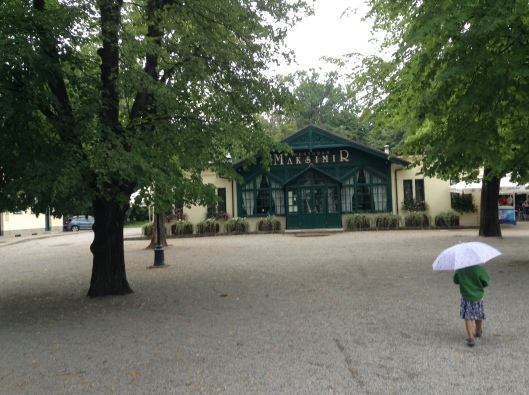 Lastborn in front of Maksimir Restaurant