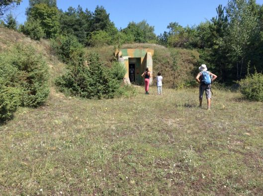 We stop to visit an abandoned Yugoslav army bunker