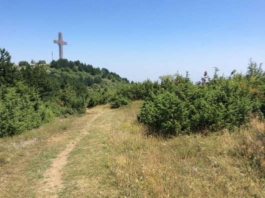 Millennium Cross as seen from the hike to Lake Matka