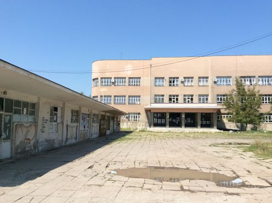 A strong argument for homeschooling - this is the local highschool, Niš