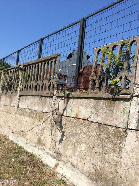 Fence at Niš train station