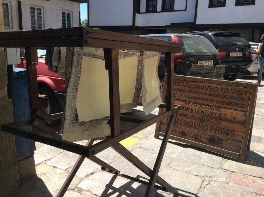 Paper drying the old fashioned way, Ohrid