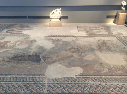 Ancient mosaic from a wealthy home