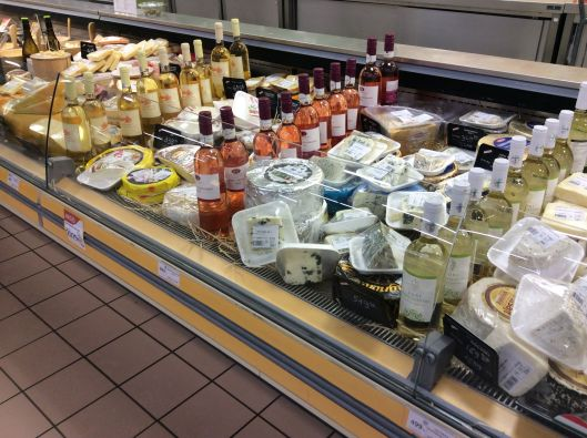 Cheese (and wine) counter