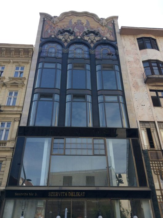 One of many Art Nouveau buildings, Budapest