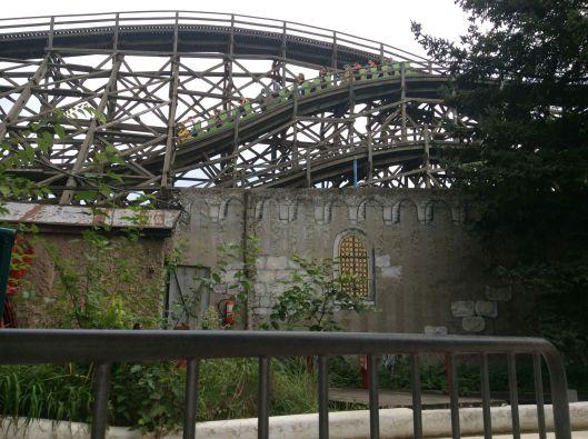 Wooden roller coaster, 1922