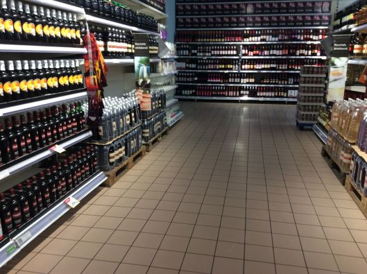 One of many booze aisles