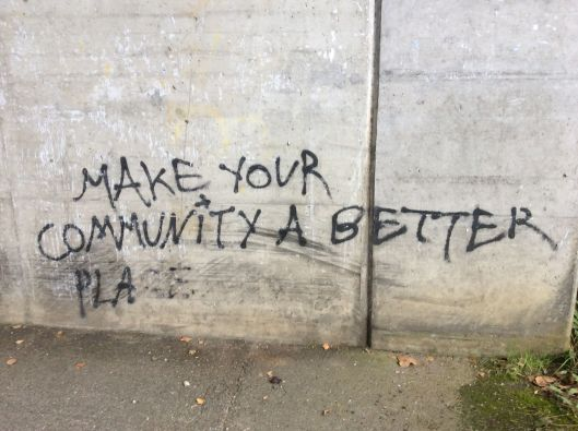 Maybe by eliminating graffiti?