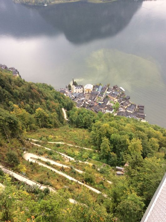 They see Hallstatt far below them