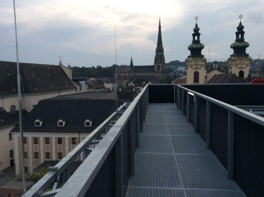 Höhenrausch walkway high above Linz