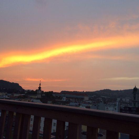 linz sunset