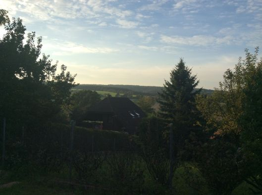View from house, early evening