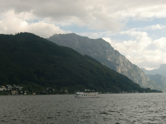 Traunsee as seen from Gmunden