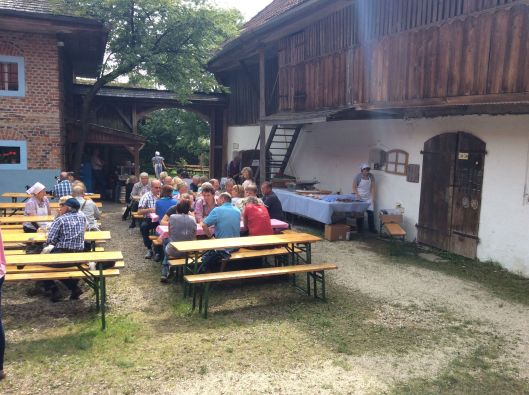Pretty much everyone enjoys a beer at Upper Austria Village.