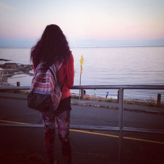 Firstborn looking at the Pacific ocean for the forth time this year (First being Singapore, second being Malaysia, third being Vietnam)