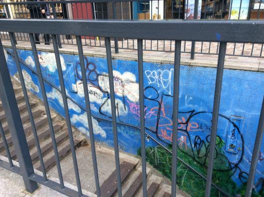 belfast subway grafitti